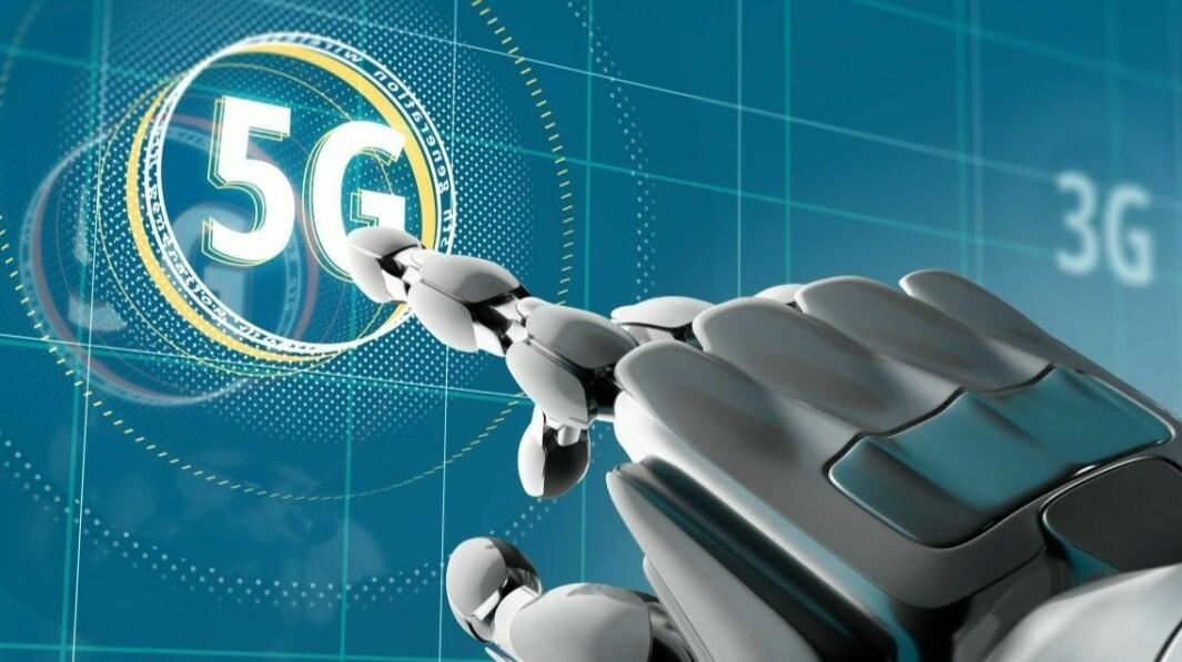 På bildet ser dere iallfall at Nkom ser for seg både roboter og 5G i hverdagen.